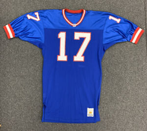 1992-1997 Dave Brown New York Giants NFL Game Used Blue Jersey #17 missing NOB