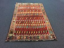 "On Sale Unique Genuine Hand Knotted Vintage Tribal Rug Geometric 4'3""x6'6&# 034;,#2021"