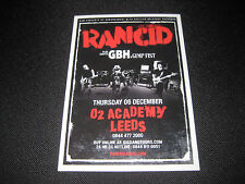 Rancid Flyer Leeds o2 Academy Punk GBH Music Memorabilia GIG Concert COLLECTIBLE
