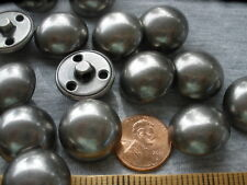 20MM metal Coat Buttons Antique Silver color Shank Military hollow dome 32L