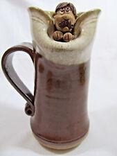 Collectible Art Pottery 'MEH' Ugly Mug Cup Tankard - Brown
