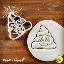 Poopy Emoji cookie cutter   poop poo smiley face biscuit birthday party treats