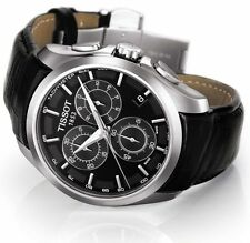 Tissot Couturier Chronograph Leather Men's Watch T035.617.16.051.00 New in Box