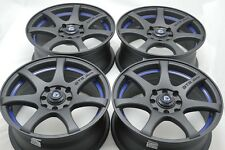 17 matt black wheels rims Civic Accord Miata Cobalt Corolla Cooper 4x100 4x114.3