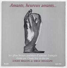 """LOLEH BELLON & SERGE REGGIANI Amants, heureux amants poesie FR BAM LD 709 10"""" LP"""