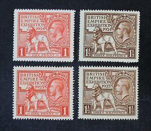 CKStamps: Great Britain Stamps Collection Scott#185 203 204 Mint NH OG #186 LH