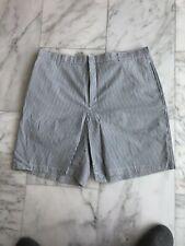Greg Norman Men's Blue & White Stripe Shorts Size W40 Cotton Blend
