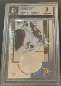 1997-98 Pinnacle Mint Silver Team #11 Patrick Roy BGS 9 Colorado Avalanche