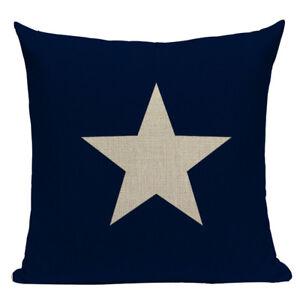 Star Cushion Cover, navy blue, canvas, seaside, beachhouse, Cape Cod, Americana
