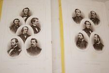 HISTOIRE DE LA GUERRE CIVILE AMERICAINE 2/2 CORTAMBERT TRANALTOS CARTES PORTRAIT