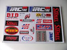 New *20* Sticker Kit Universal Motocross Decals Zxr Zx Cr Xr Xlr Ec Mtx Crf450