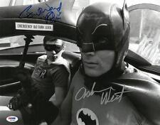 Adam West & Burt Ward Signed Batman 1966 (In Batmobile)LARGE 11x14 Photo PSA ITP