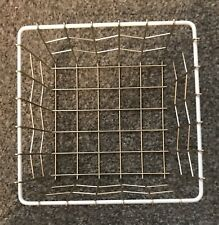 Small Gold And White Square Metal Storage Basket Home Furnishings