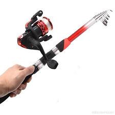 Top Fishing Combo Glass Fiber Telescopic Fishing Rod and Reel
