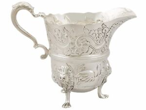 Antique Victorian Sterling Silver Cream Jug London 1890