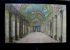 *2089 vue d'optique gravure 18eme siecle la grande galerie de versaille