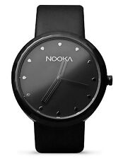 Nooka Unisex Black Night 360 Degree Rotating Case Quality Luxury Wrist Watch NIB