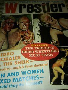 Wrestling 1971 Magazine wrestler WWF NWA AWA Revue Heenan Morales Funk Brisco Aw