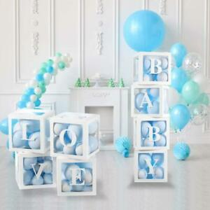 Balloon Box with LOVE BABY ONE Boxes Cube for Baby Shower Birthday Bridal Shower