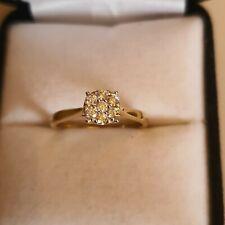9ct Gold Diamond Illusion Cluster Ring
