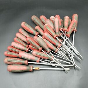Mixed Lot of 34 Proto Screwdrivers ***USED WORN & BROKEN*** Scrap Aircraft Tools
