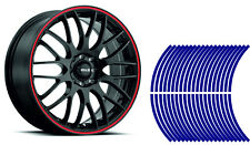 Wheel Striping Stripes Stickers Decals for Motorbike or Car *10mm* Blue