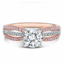1.20 Ct Diamond Engagement Ring Hallmarked 18K Rose Gold Solitaire Size P ++326