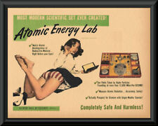 1950s Gilbert Atomic Energy Lab Play Set Ad Reprint *200