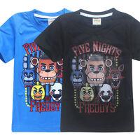 New Kids Boys Five Nights at Freddy's FNAF Clothing Short Sleeve T Shirt 4-12yrs