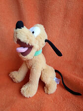 """Disney Store Pluto dog Soft toy 7"""" seated plush great condition"""