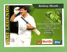 2002 WEETBIX  CRICKET CARD #34  RODNEY  MARSH  / #17 ADAM  GILCHRIST