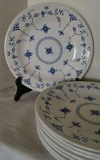 """8 CHURCHILL FINLANDIA BLUE & WHITE 10 3/8""""  DINNER PLATES"""