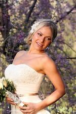 Bridal Ivory Birdcage Lace Russian Veiling