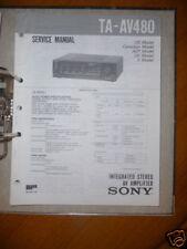 Sony Manual De Servicio TA-AV480 Amplificador,ORIGINAL