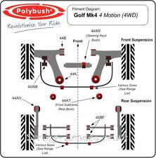 Polybush Front Anti Roll Bar Link BushKit for VW Golf Mk4 4Motion 1997-2006 44AM