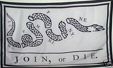 JOIN OR DIE FLAG - PATRIOT BANNER - TEA PARTY -