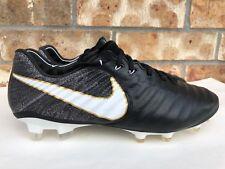 Men's Nike Tiempo Legend Vii 7 Fg Black White Gold Soccer Cleats 897752 002