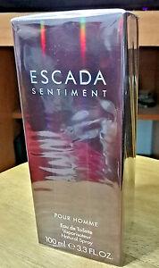 Escada Sentiment Pour Homme Eau de Toilette 100ml / 3.3oz spray new sealed!