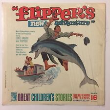 Flipper's New Adventure Story Music Vinyl LP 1964 MGM Records Dolphin In Shrink