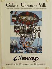 Affiche C. VENARD Exposition Galerie Christiane Vallé