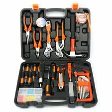 100 Pieces Household Tools Home Tool Set Kit Box Repair Hard Case DIY Handy Auto