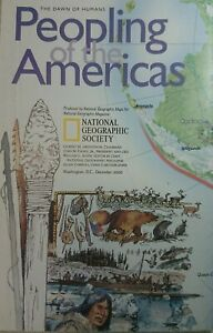 Vintage 2000 Peopling of the Americas Wall Map Folded National Geographic Dec 00
