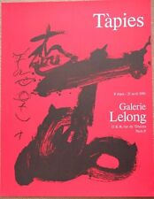 ANTONI TAPIES Affiche lithographie Galerie Lelong poster