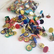 Coloured Drawing Pins 9.5mm Assorted Thumb Tacks x150