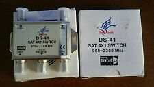 Lot of 2 Samsonic 4x1 DiSEqC Wideband Switch Premium FTA Connect 4 Satellite