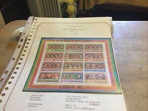 St Vincent Unmounted Mint Stamp Miniature Sheet