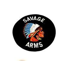 "SAVAGE ARMS ROUND EMBROIDERED LOGO PATCH 3"" DiameterHunting Shooting 1911 GUN"