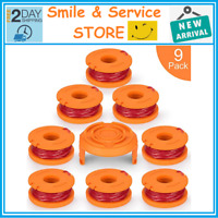 9Pack String Trimmer Replacement Spools for Worx GT WG163 WG155 WG180 WG175WG160