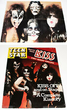 "Vintage Teen Star Magazine 1978 - Kiss Giant Pin Up Poster 22.5"" x 17"" Fold Out"