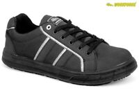 Mens Ladies Workforce Safety Steel Toe Cap Plimsoll Skater Shoe Trainer Boots Sz